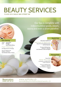 Beauty Spa Wellness Massage Services Flyer