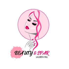 BEAUTY SPAR SALON GIRLS WOMAN NAILS & HAIR SA Logo template