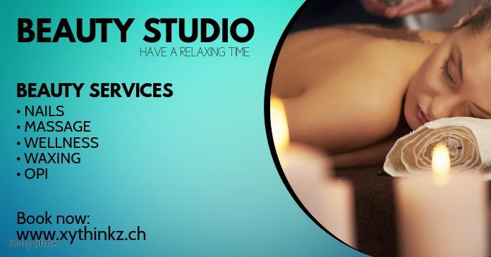 Beauty Studio Spa Wellness Massage Cover Ad