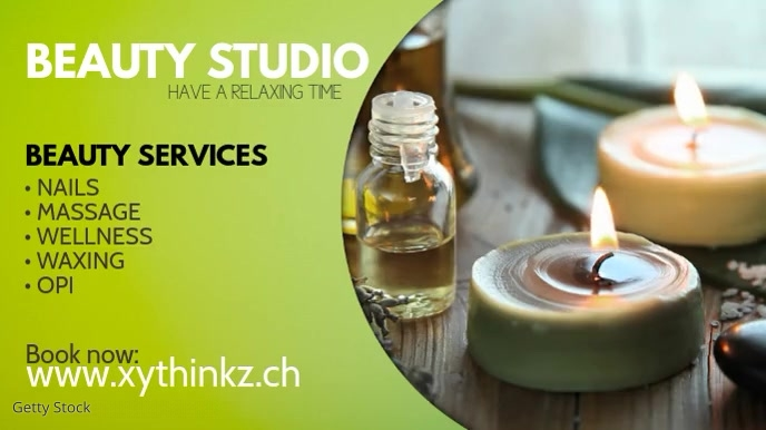 Beauty Studio Wellness Massage Treatement Ad