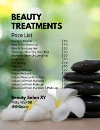 Beauty Treatments Price List Spa Wellness Ad