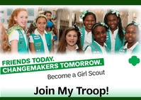 Become a Girl Scout Postal template
