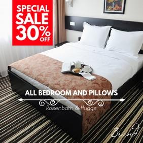 Bedroom Furniture Sale Square Ad Publicação no Instagram template