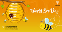 bee day social media post Изображение, которым поделились на Facebook template