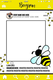 Bee Party Prop Frame