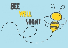 Bee Well soon! ไปรษณียบัตร template