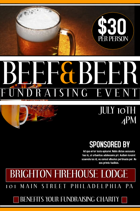 Beef And Beer Fundraiser Template PosterMyWall