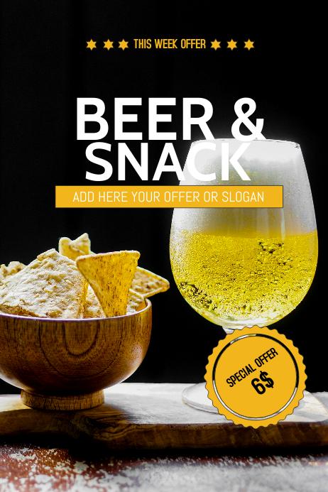 Beer&snack sale flyer template Plakat