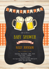 Beer a baby is brewing shower invitation