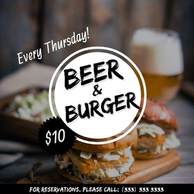 Beer and Burger offer