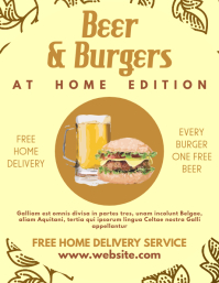 beer and burgers at home event