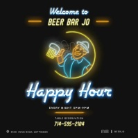Beer bar Square (1:1) template