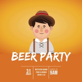 Beer bar event video Ad template Square (1:1)