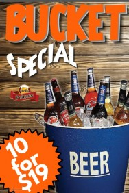 Beer Bucket Deal Poster Template