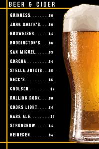 Beer Card Menu Template