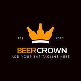 beer crown icon bar logo template Logótipo