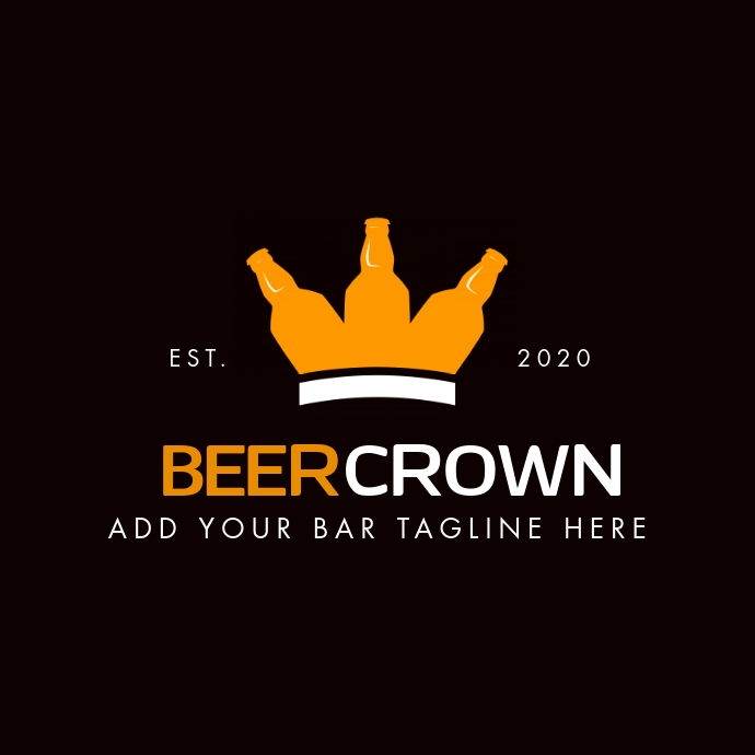 beer crown icon bar logo template Logotyp