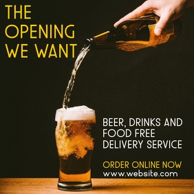 beer drinks and food free delivery services