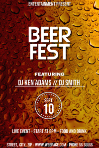 Beer fest event flyer template