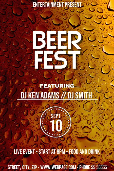 Beer fest event flyer template
