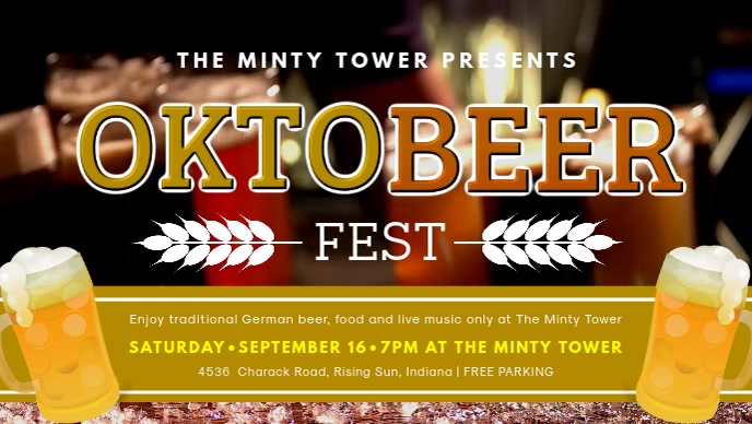 Beer fest Facebook Cover Video Template Film w tle na Facebooka (16:9)