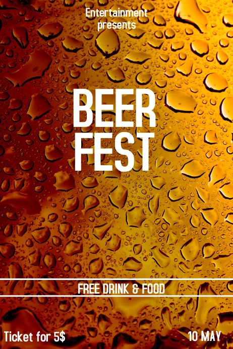 BEER fest flyer template