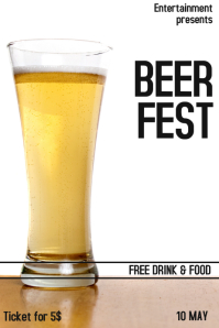 BEER fest flyer template