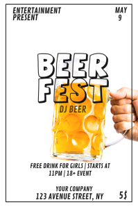 Beer fest party flyer template
