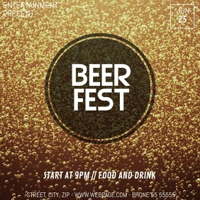 Beer fest video flyer template