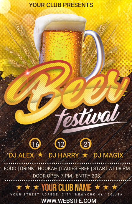 beer festival Half Page Wide template