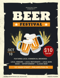 Beer Festival Flyer (US Letter) template