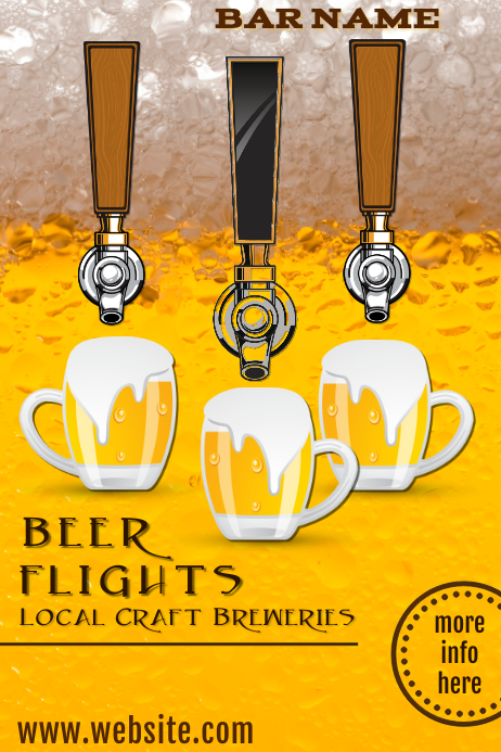 Beer Flights Bar Ad Poster