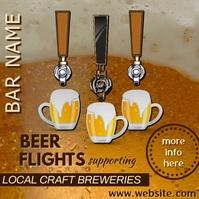 Beer Flights Bar Ad Video Carré (1:1) template
