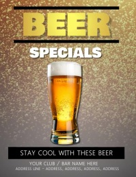 Beer Flyer Template digital video