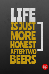Beer funny typographic poster