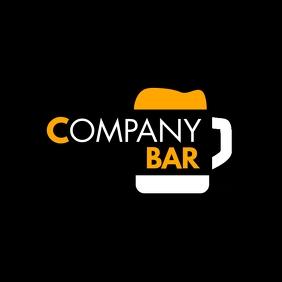 beer icon bar logo template design