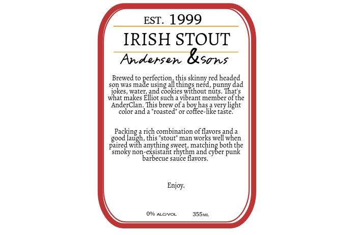 beer label Tatak template