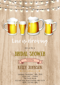 Beer love is brewing invitation