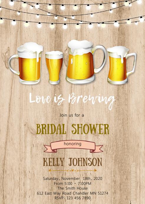 Beer love is brewing invitation