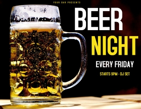 Beer night ad flyer