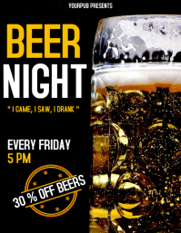 Beer Night flyer advertisement