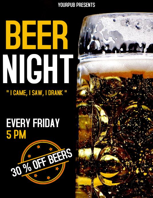 Beer Night flyer advertisement