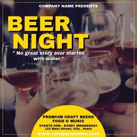 beer night instagram post advertisement template