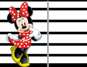 Minnie Mouse Black & White Background