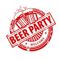 Beer Party logo Логотип template