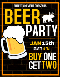 Beer party night flyer advertisement