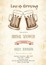 Beer party template invitation