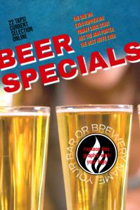 beer specials bar brewery Flyer Template
