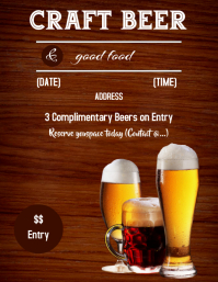 Beer Tasting Flyer (US-Letter) template