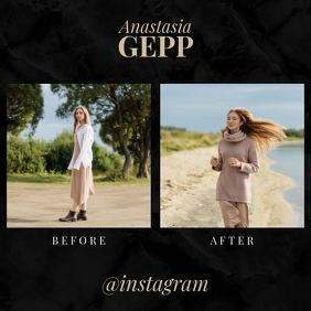 Before After Instagram Fashion Template